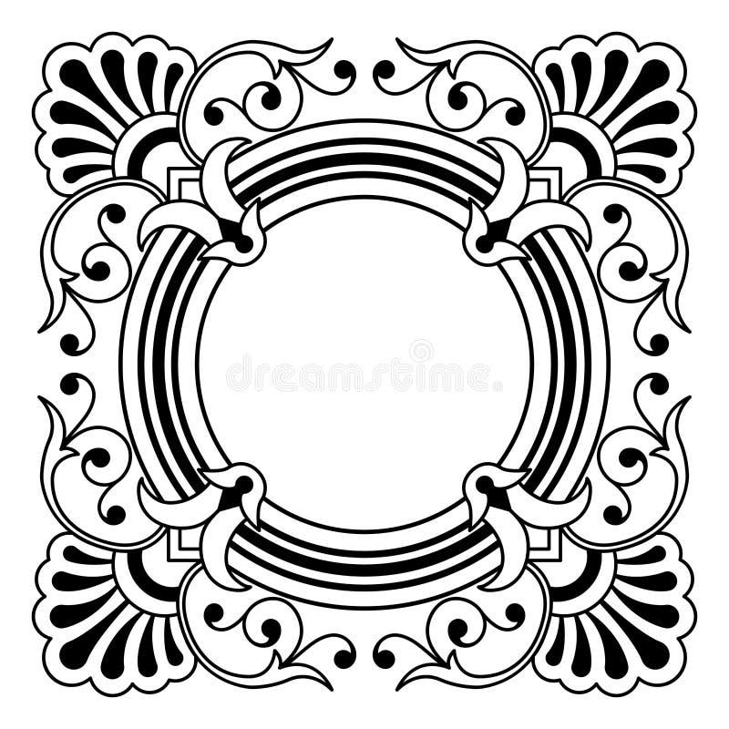 Dekorativer Rand, Auslegungelement stock abbildung