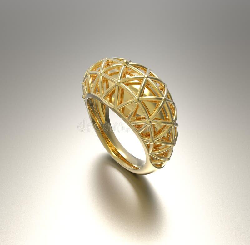 Dekorativer Ring Abbildung 3D stock abbildung