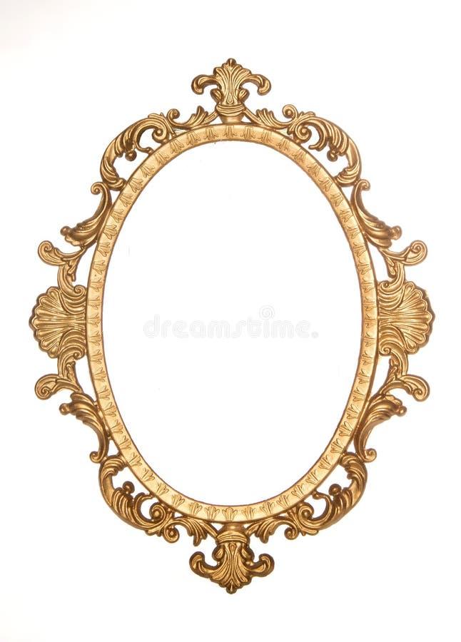 Dekorativer Rokokorahmen der Goldvergoldung lizenzfreie stockfotografie