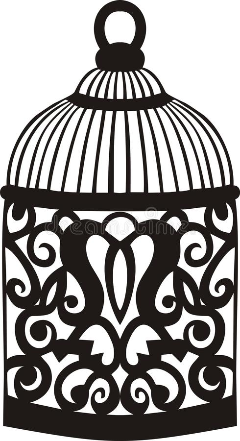 Dekorativer Vogelkäfig. vektor abbildung