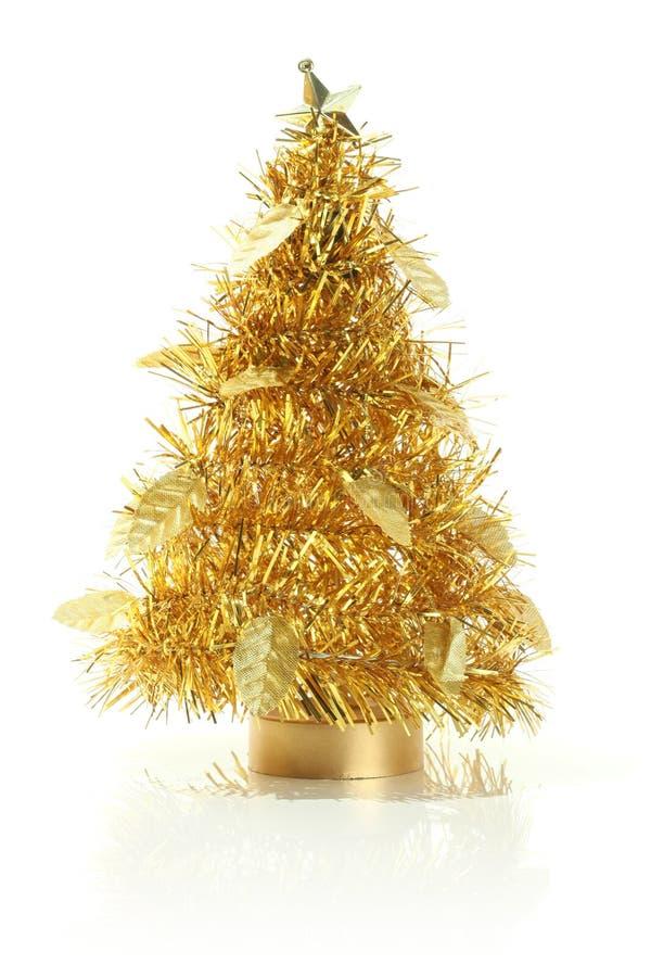 Dekorativer Weihnachtsbaum, getrennt auf Weiß lizenzfreies stockfoto