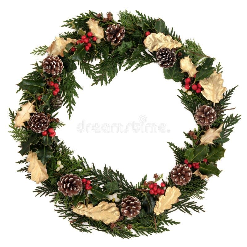 Dekorativer WeihnachtsWreath stockfotos