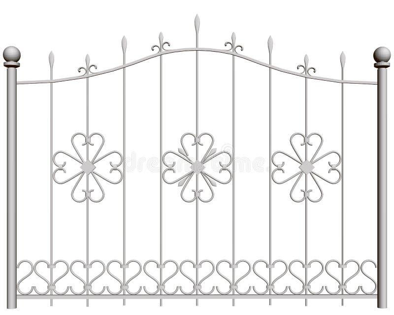 Dekorativer Zaun vektor abbildung