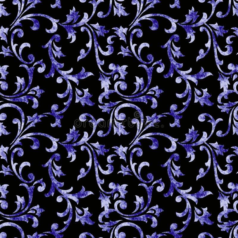 Dekoratives blaues Designmuster vektor abbildung