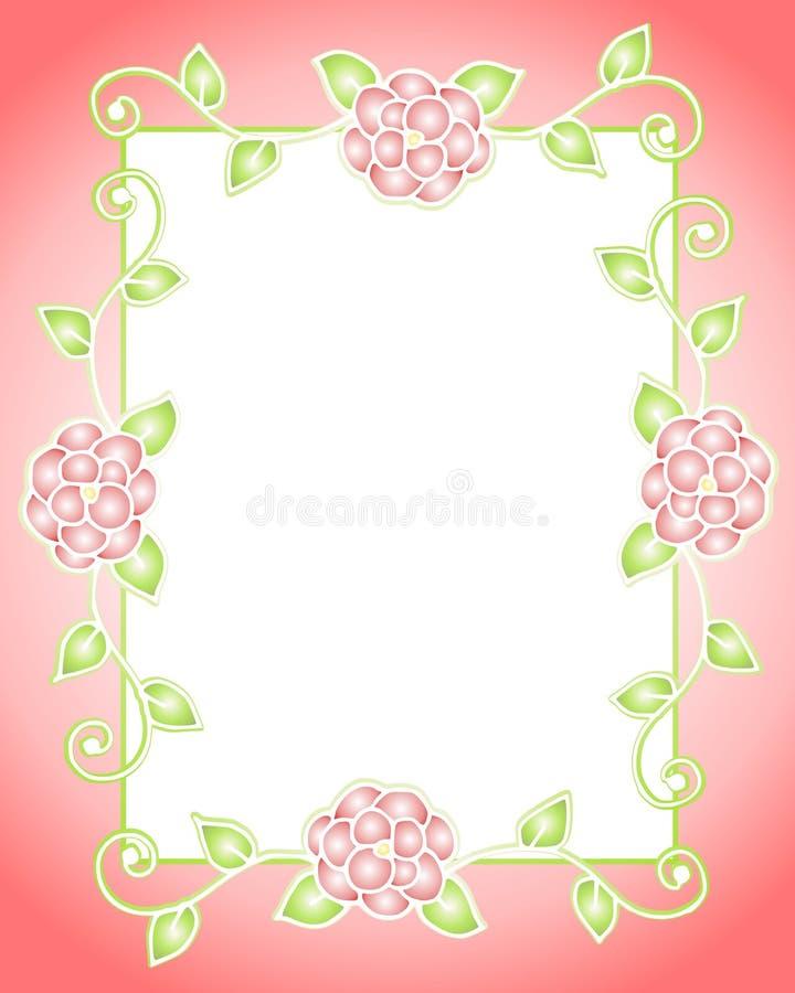 Dekoratives Blumen-Feld oder Rand vektor abbildung