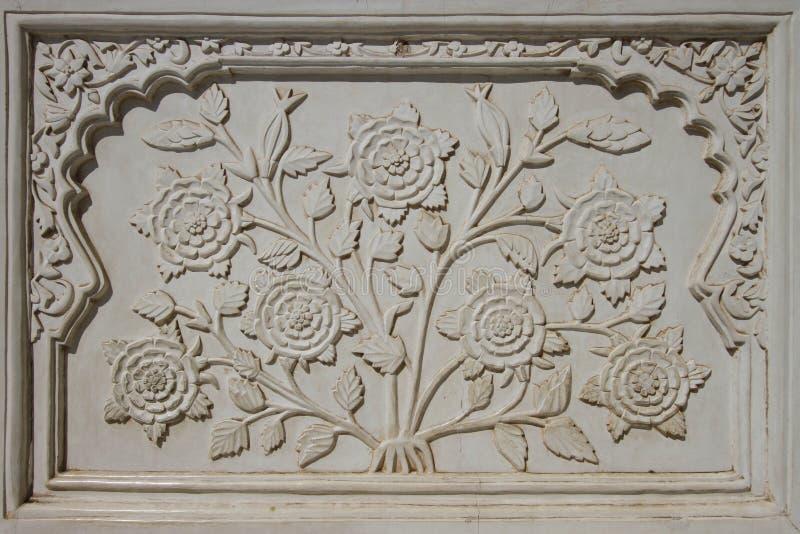 Dekoratives Detail von Bibi Ka Maqbara lizenzfreie stockbilder
