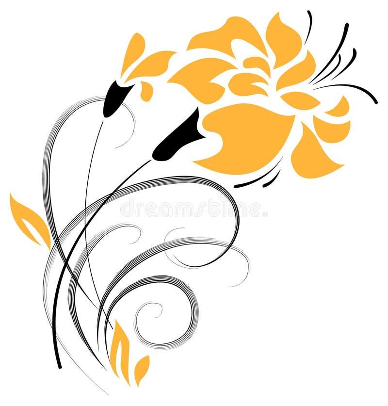 Dekoratives Element der Blume. Vektor stockfotos