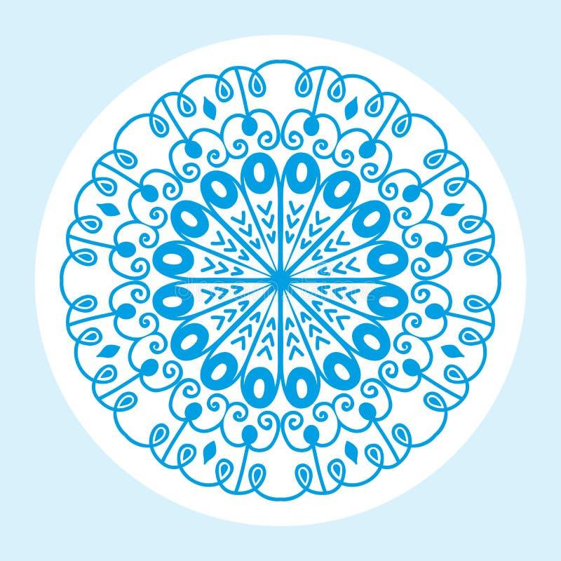 Dekoratives Element der dekorativen Spitzes des Hennastrauchtätowierung mehndi Blumenschablonengekritzels und indisches Design ko stock abbildung