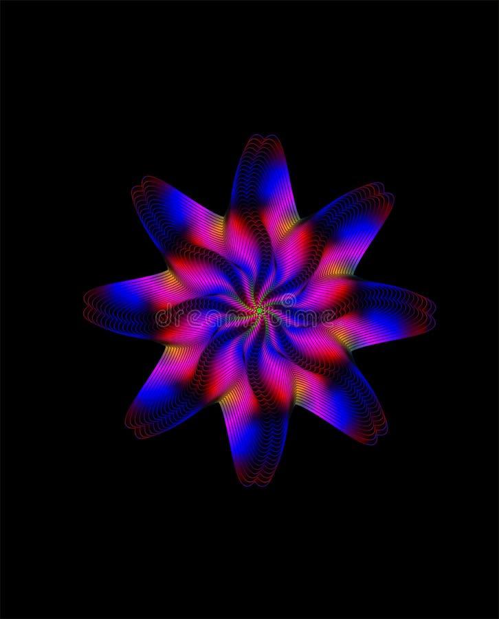 Dekoratives Element des abstrakten Regenbogens stock abbildung