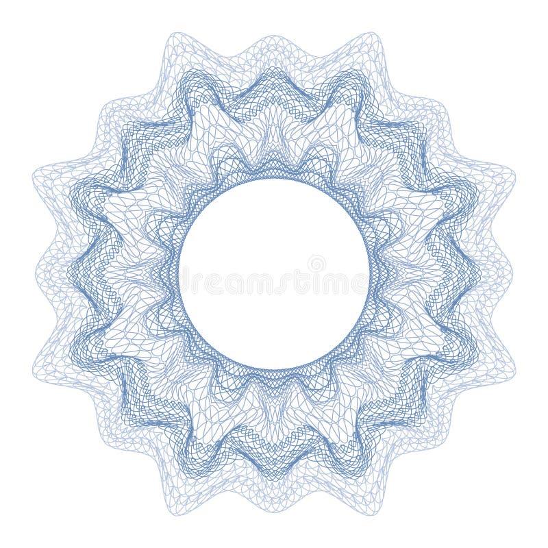Dekoratives Element des Guilloche für Designzertifikat, -diplom und -banknote stock abbildung