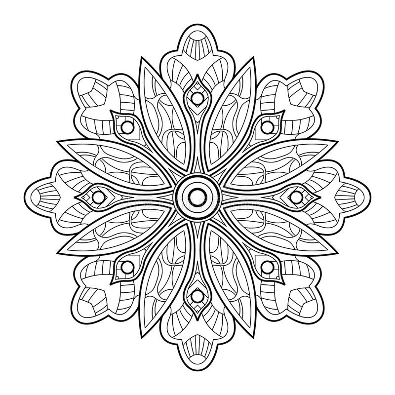 Dekoratives Element für Design Dekorative Elemente der Weinlese stock abbildung