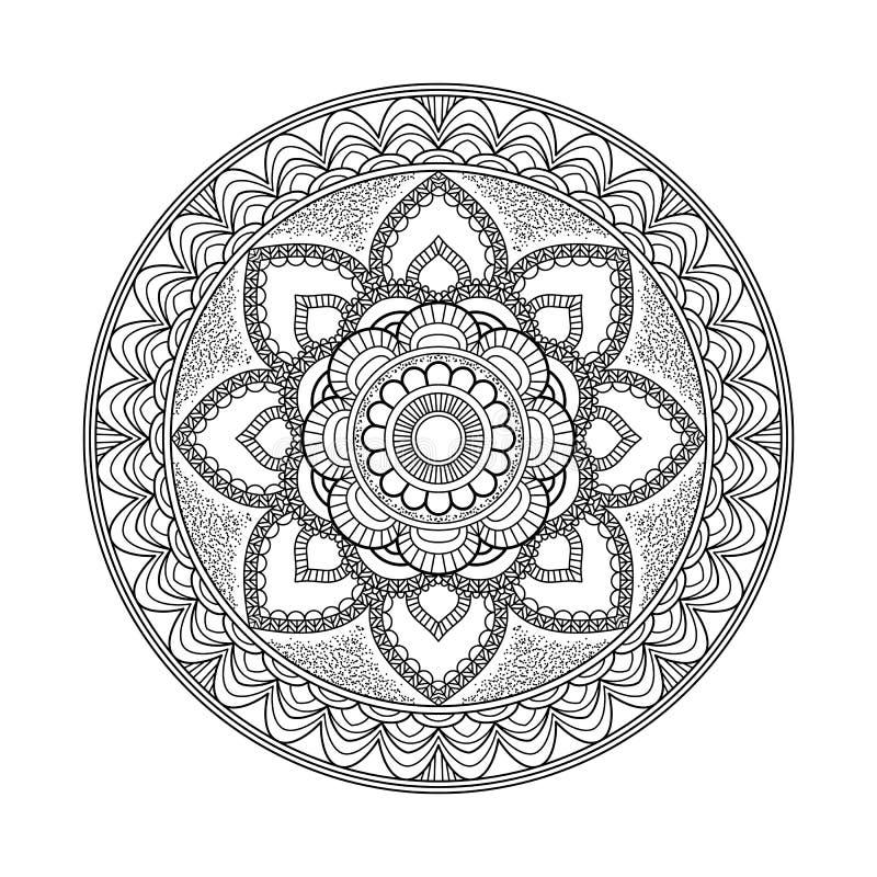 Dekoratives Element für Design Dekorative Elemente der Weinlese Orientalisches Muster, Vektorillustration Islam, Arabisch, Inder, lizenzfreie abbildung