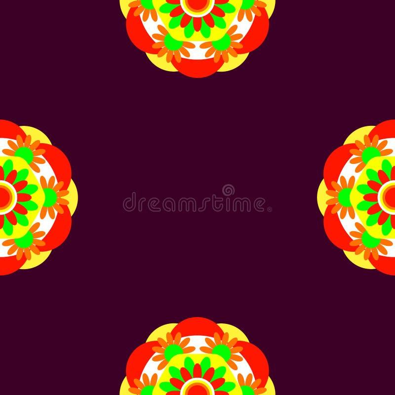 Dekoratives Element für Design Nahtloses Muster Rotweinhintergrund stock abbildung