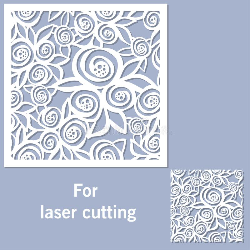 Dekoratives Element für Laser-Ausschnitt vektor abbildung
