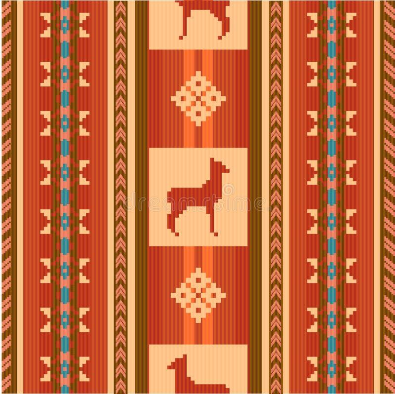 Dekoratives ethnisches Muster mit Lamas vektor abbildung
