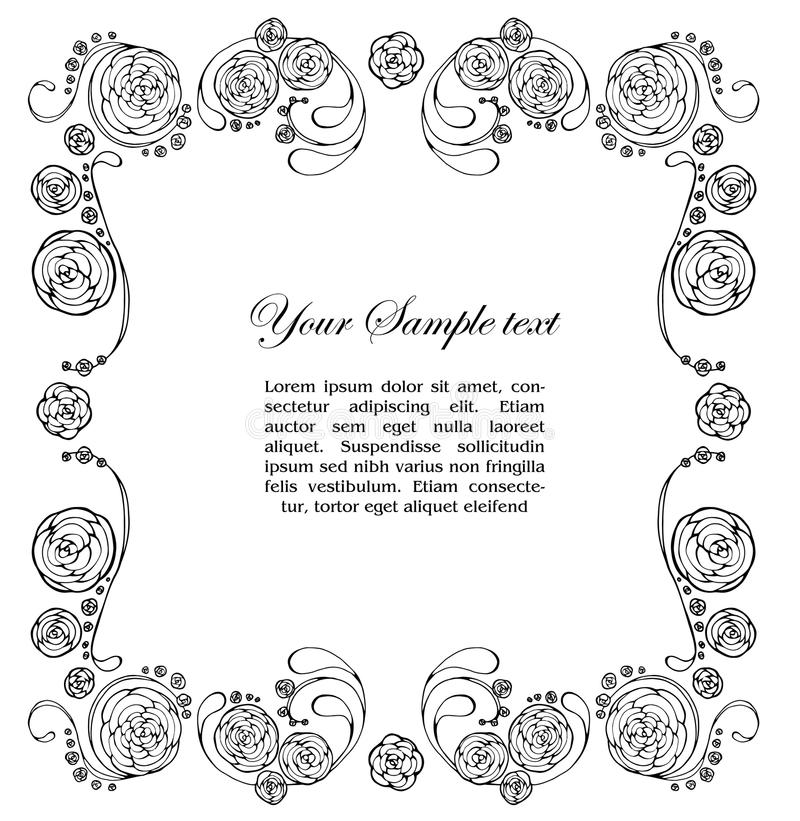 Dekoratives Feld mit Rosen stock abbildung