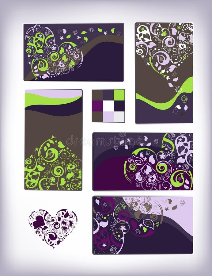 Dekoratives Innerkartenset stock abbildung