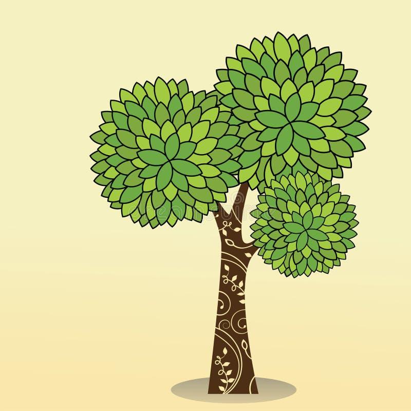Dekoratives Kabel des Baums lizenzfreie abbildung