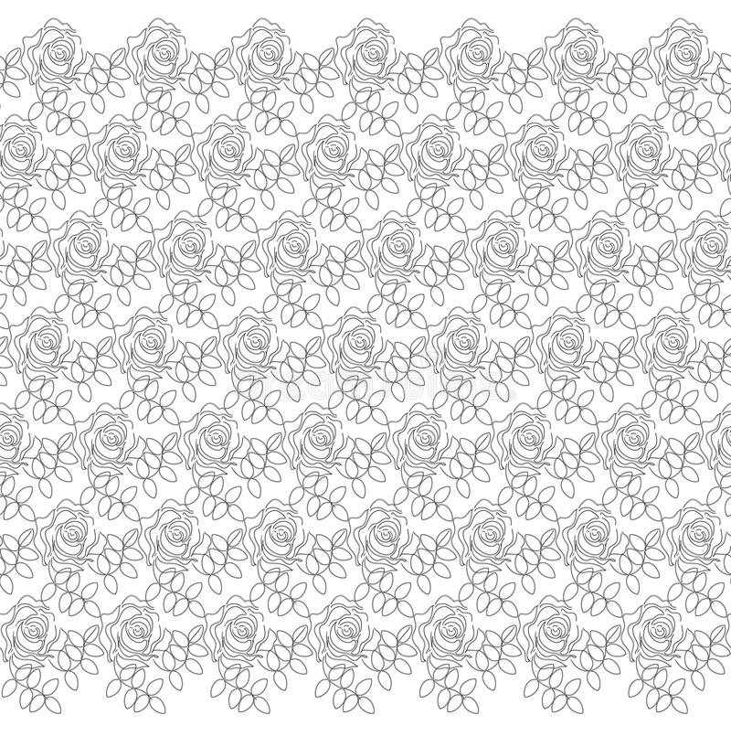 Dekoratives Lacy Pattern mit Rosen stock abbildung