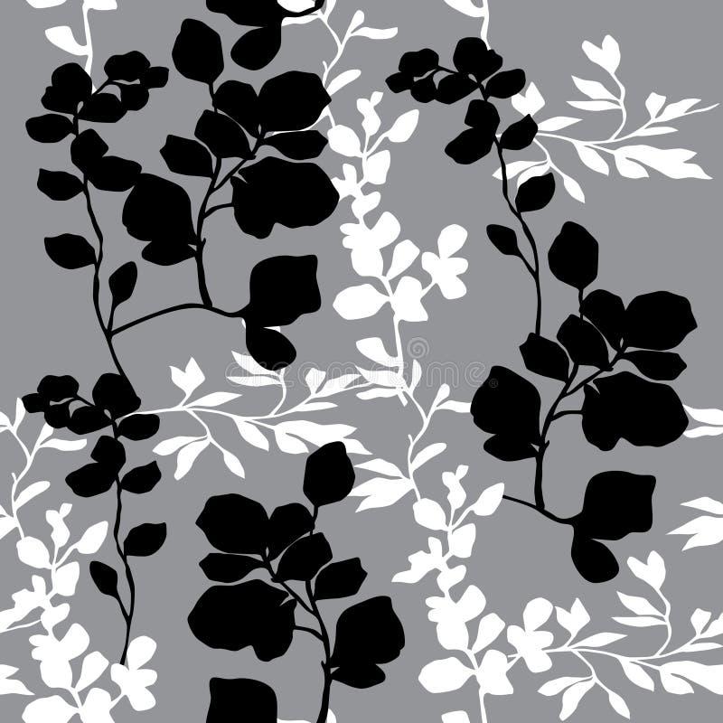 Dekoratives mit Blumenmuster Abstrakter stilvoller Hintergrund lizenzfreie abbildung