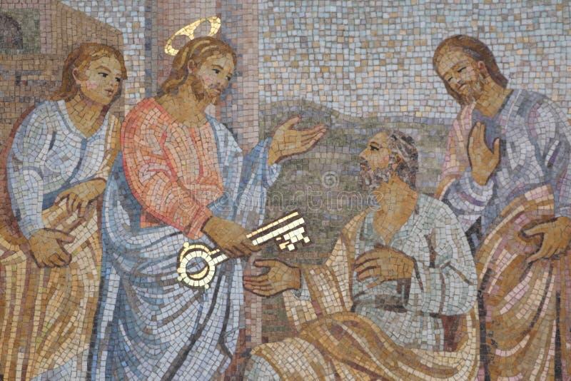 Dekoratives Mosaik lizenzfreie stockbilder