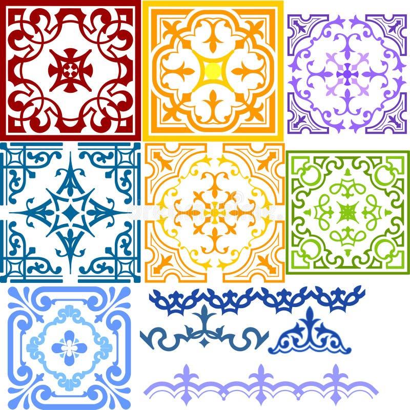 Dekoratives Muster stock abbildung