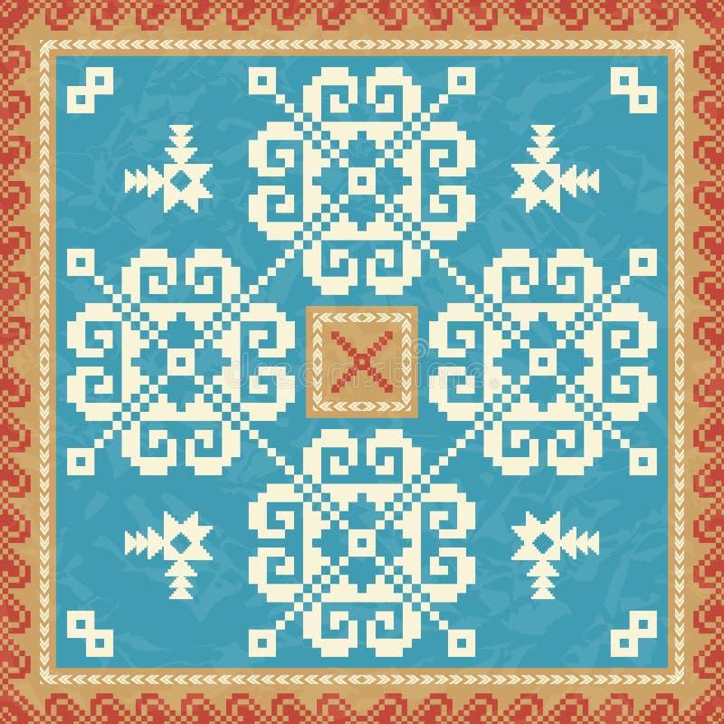 Dekoratives Muster Snowflackes vektor abbildung