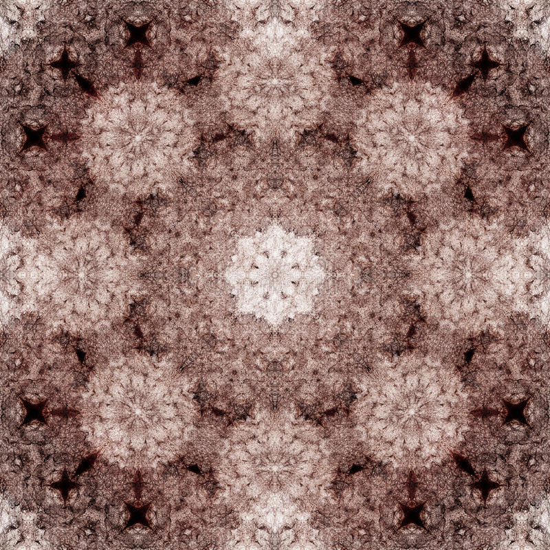 Dekoratives Muster, verschachtelte Linien, die Kombination von Fragmenten von Bildern lizenzfreies stockfoto