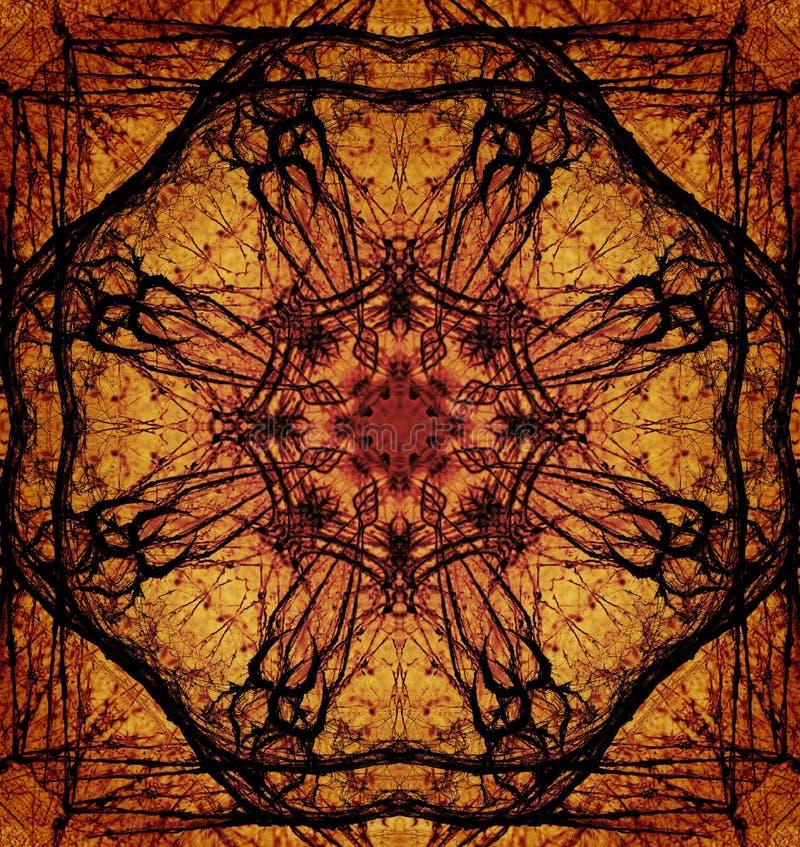 Dekoratives Muster, verschachtelte Linien, die Kombination von Fragmenten von Bildern lizenzfreie stockbilder