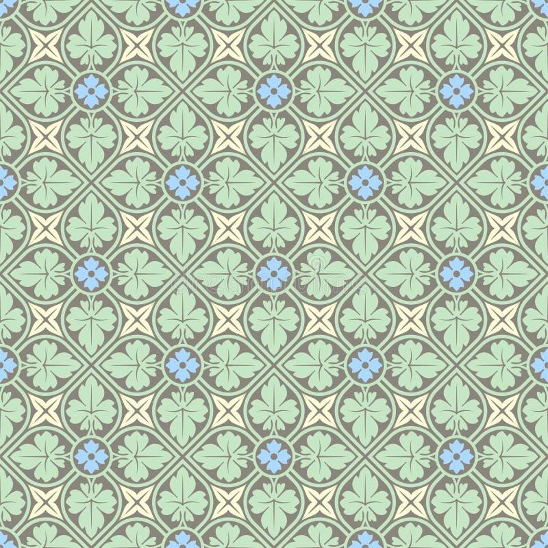 Dekoratives nahtloses Muster lizenzfreie abbildung