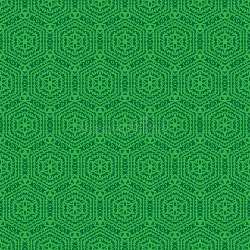 Dekoratives nahtloses Muster Auch im corel abgehobenen Betrag Hexagon-Form Gitterhintergrund Geometrische Auslegung Moderne stilv lizenzfreie abbildung