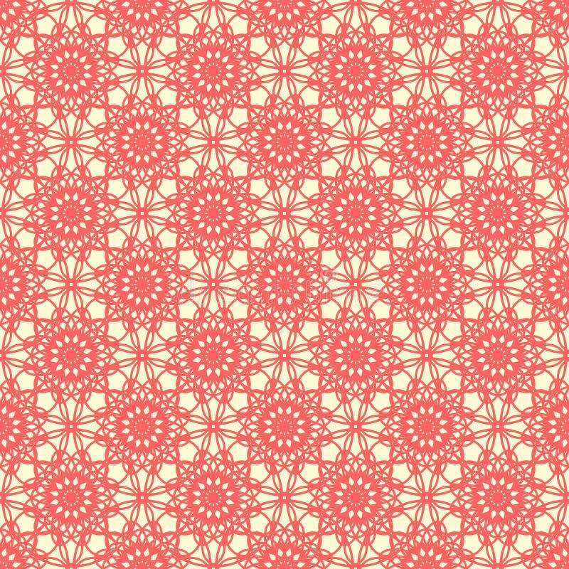 Dekoratives nahtloses Muster des Vektors, geometrische Zahlen, Sterne, Rauten Entwerfen Sie für Drucke, Dekor, Gewebe, Gewebe stock abbildung