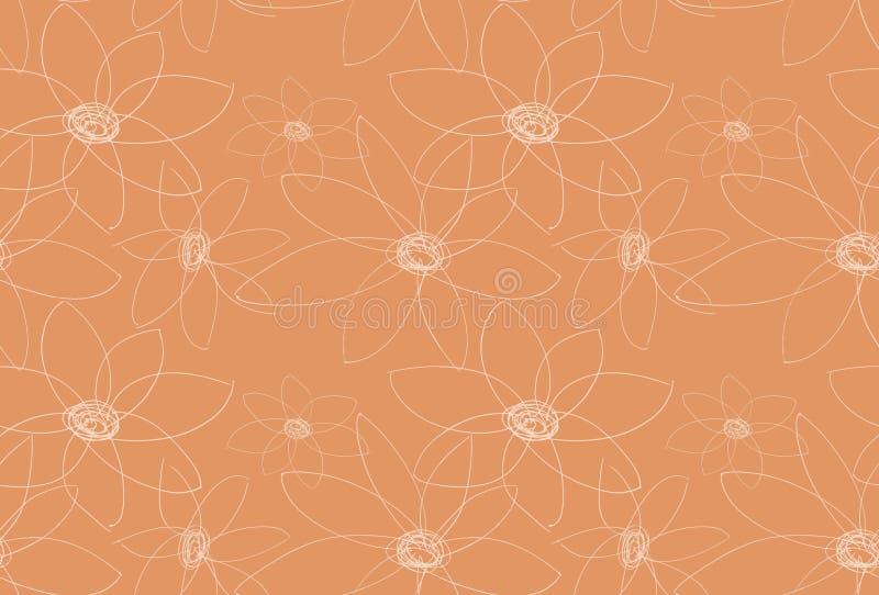 Dekoratives orange mit Blumenmuster vektor abbildung
