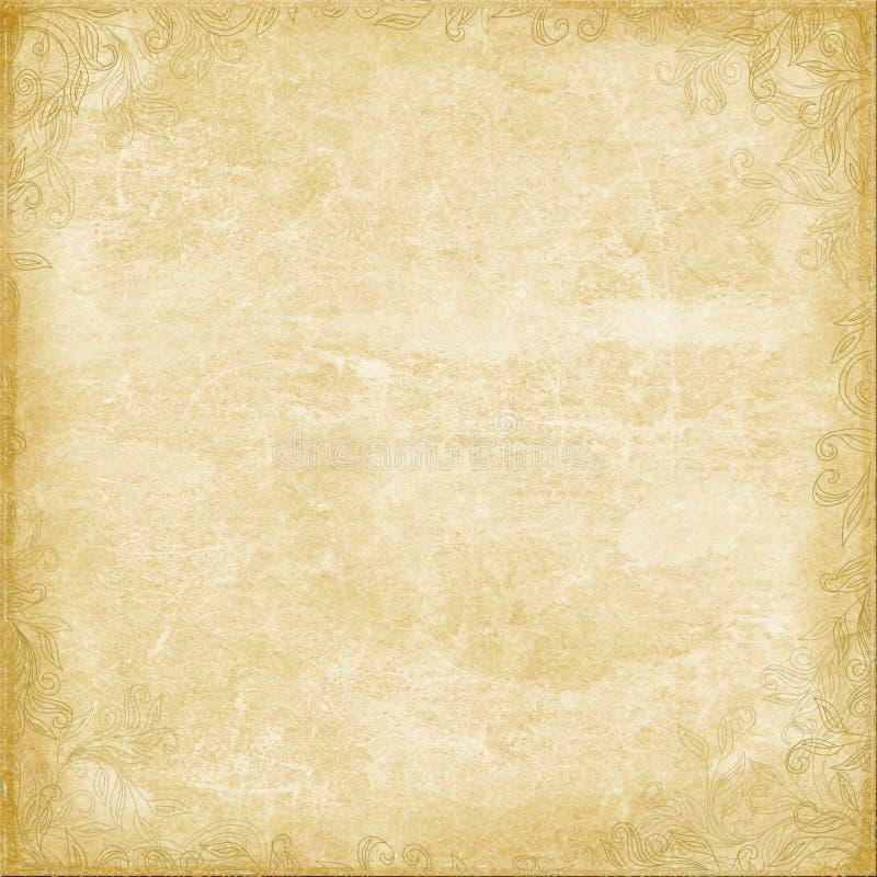 Dekoratives Papier mit dekorativen Elementen lizenzfreie stockfotografie