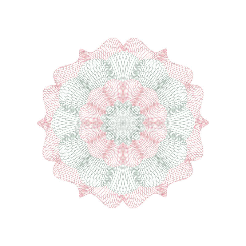 Dekoratives Rosettenelement des Guilloche stock abbildung