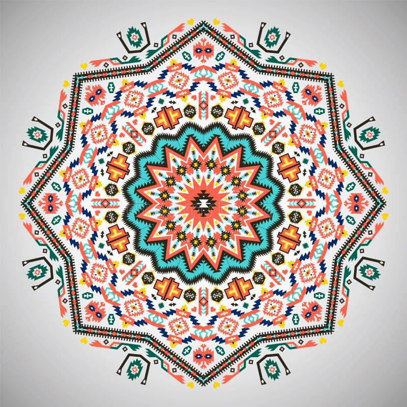 Dekoratives rundes buntes geometrisches Muster herein vektor abbildung