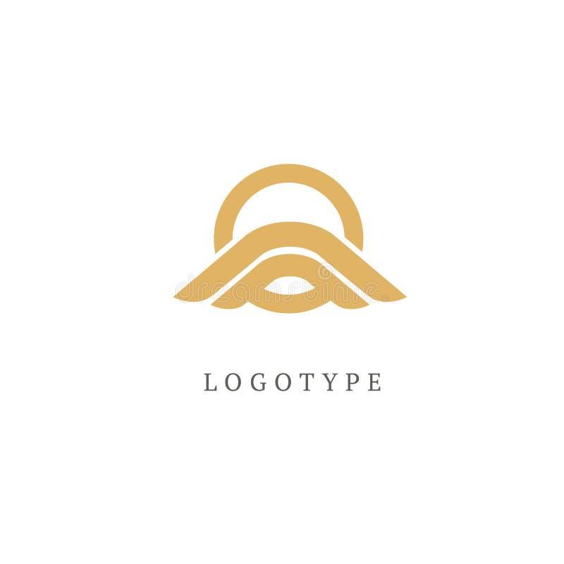 Dekoratives rundes Logo Retro- Emblem des Luxuskreises Kosmetik, Badekurort, Schönheitssalon, Dekoration, Butikenvektorlogo stock abbildung