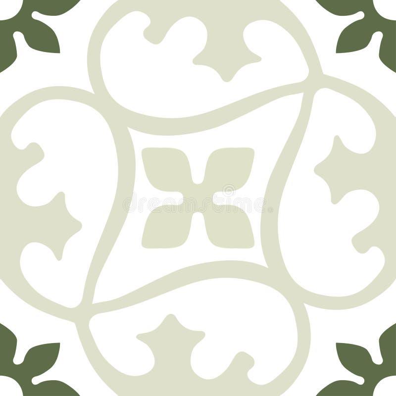 Dekoratives rundes nahtloses Muster Marokkos Traditionelle Verzierung Orientes Orientalisches Motiv stock abbildung