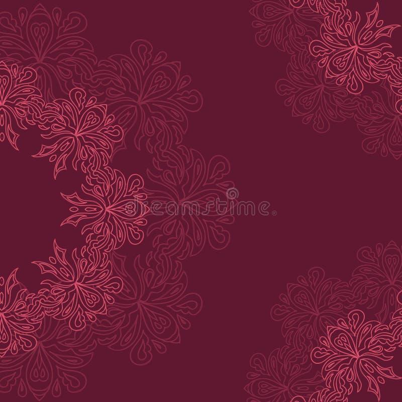 Dekoratives rundes organisches Muster stockbild