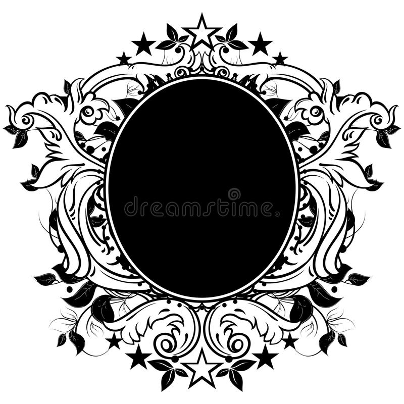 Dekoratives Schild stock abbildung