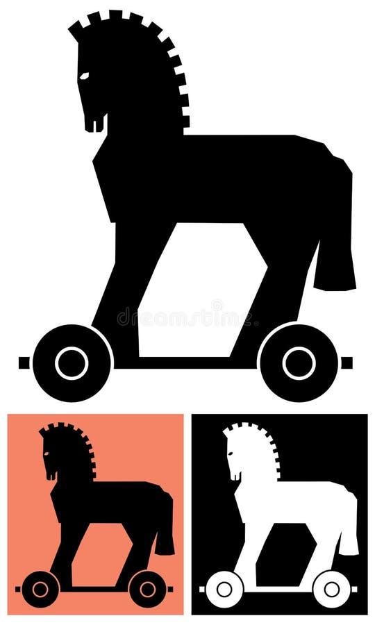 Dekoratives Trojan Horse lizenzfreie abbildung