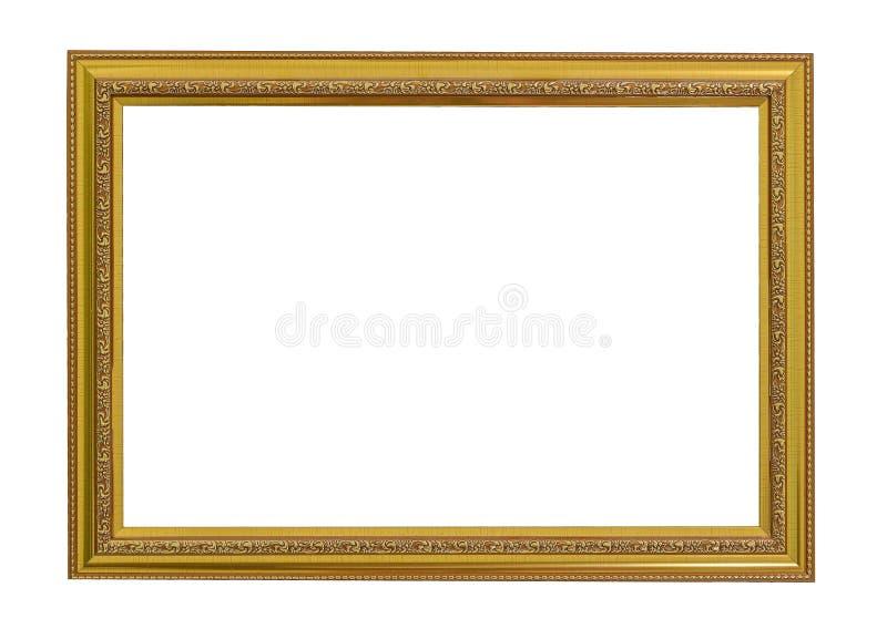 Dekoratives vektorfeld mit Platz für Text, Abbildung oder Auslegung Elegantes Weinlesegold/vergoldete Bilderrahmen lizenzfreie stockfotos