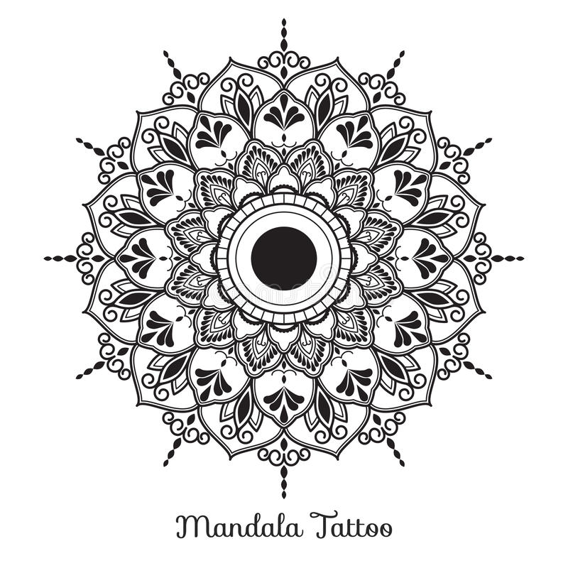 Dekoratives Verzierungsdesign der Mandala vektor abbildung