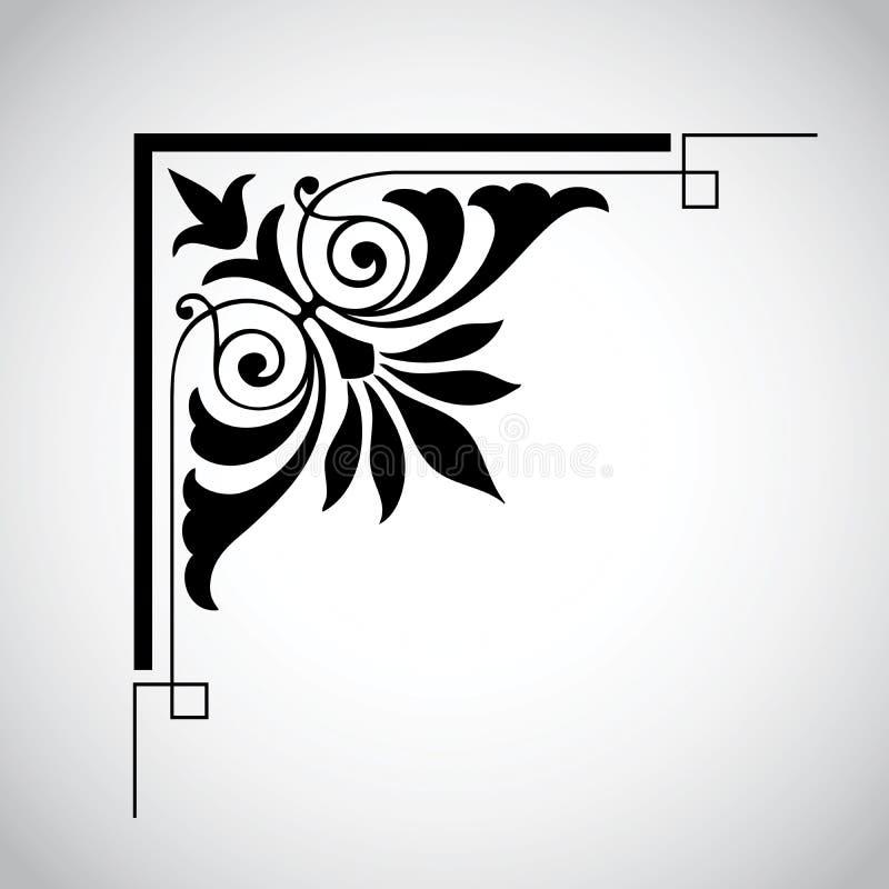 Dekoratives Weinlese-Auslegung-Element vektor abbildung
