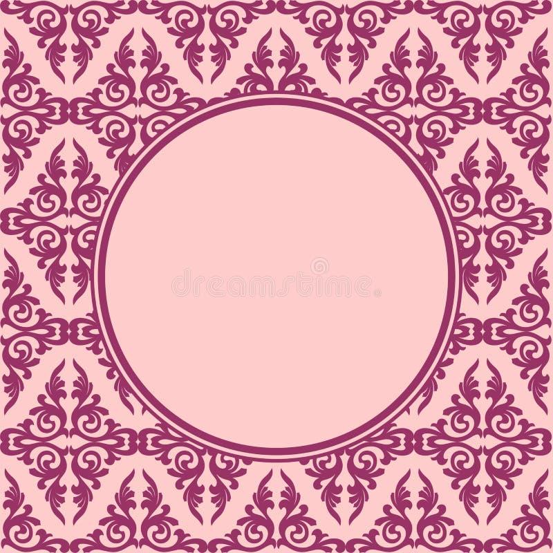 Dekorativnaja round ramowy bezszwowy wzór ilustracja wektor