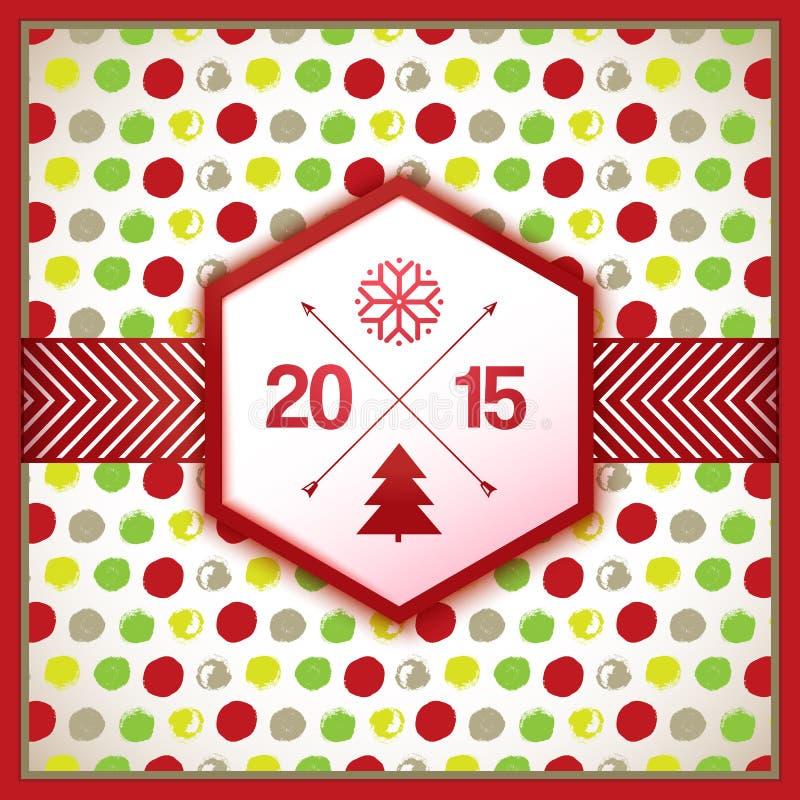Dekorativt berömkort för nytt år royaltyfri illustrationer