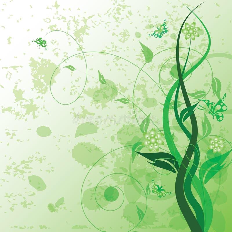 dekorativt blom- royaltyfri illustrationer