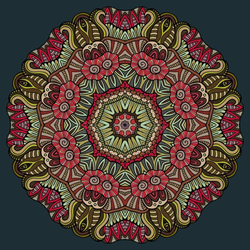 Dekorativt blom- etniskt färgrikt för abstrakt vektor royaltyfri illustrationer