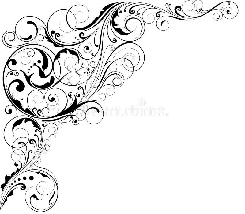 Dekorativt blom- hörn vektor illustrationer