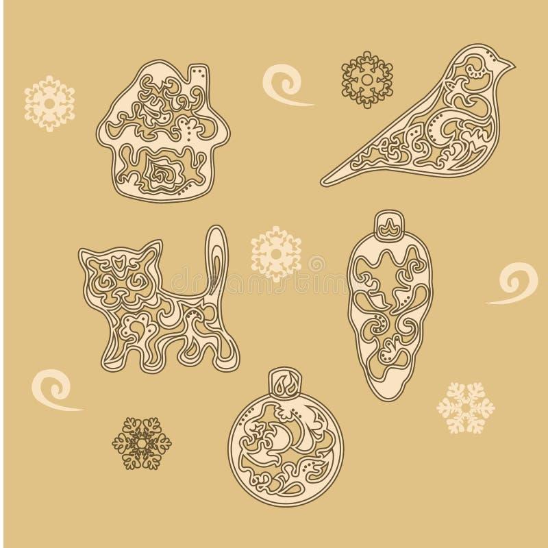 Dekorativt diagram för jul royaltyfria foton